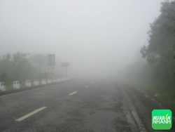 Lái xe ôtô an toàn - Kinh nghiệm hạ đèo lúc mù sương