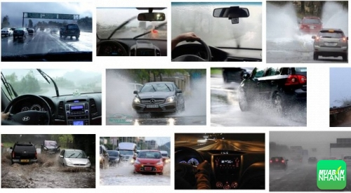 Kinh nghiệm lái xe an toàn trong trời mưa